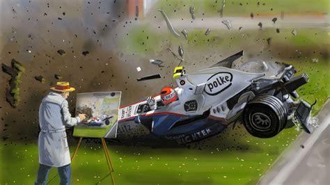Formel 1 Auto Malen by Formel 1 Unfall Speed Painting F1 Crash