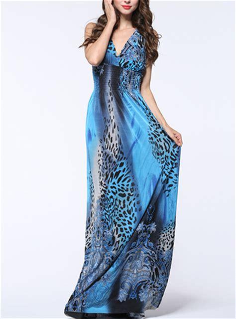 leopard print summer maxi dress empire waist