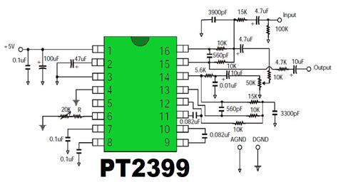 Infath Pt2399 Echo Processor Ic pt2399 digital echo circuit gambar skema rangkaian