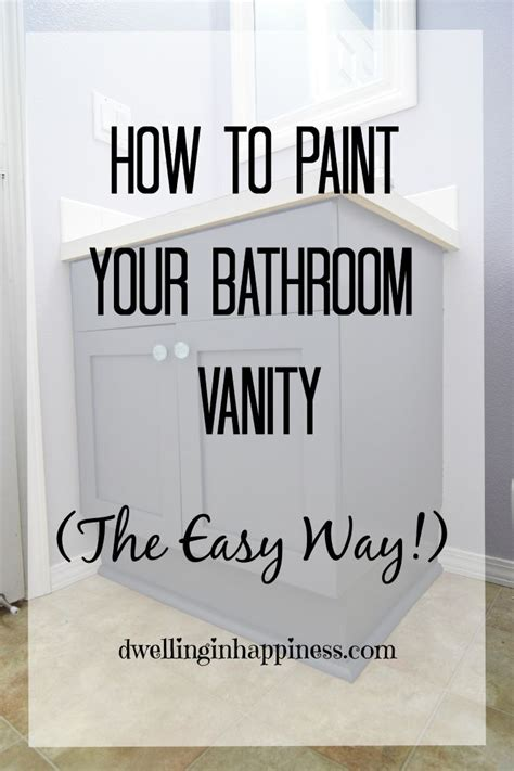 How To Paint Bathroom | how to paint your bathroom vanity the easy way