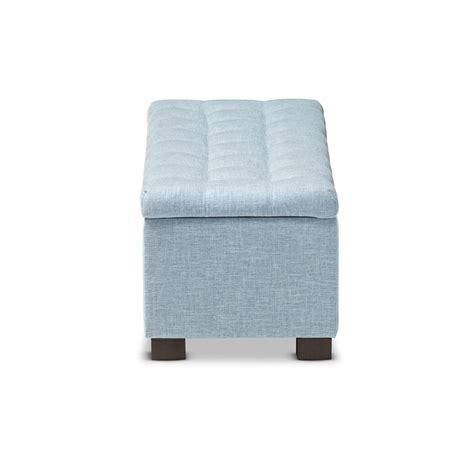 blue upholstered ottoman baxton studio roanoke modern and contemporary light blue