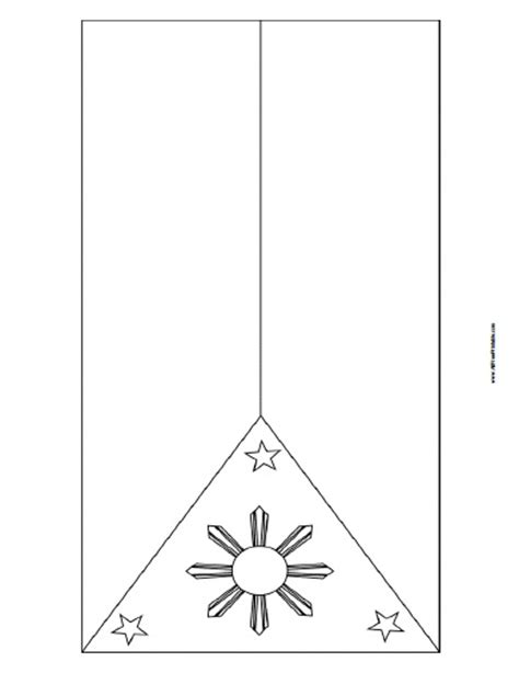 Philippines Flag Coloring Page Free Printable Philippines Flag Coloring Page