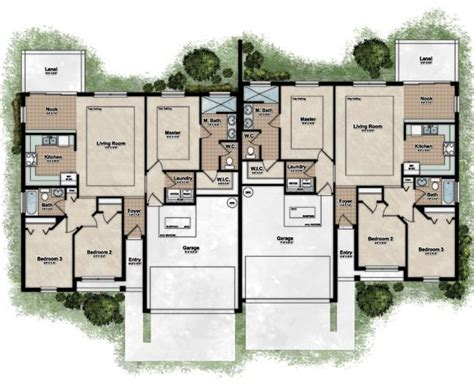 Floor Plan For Duplex House | 25 best ideas about duplex house plans on pinterest