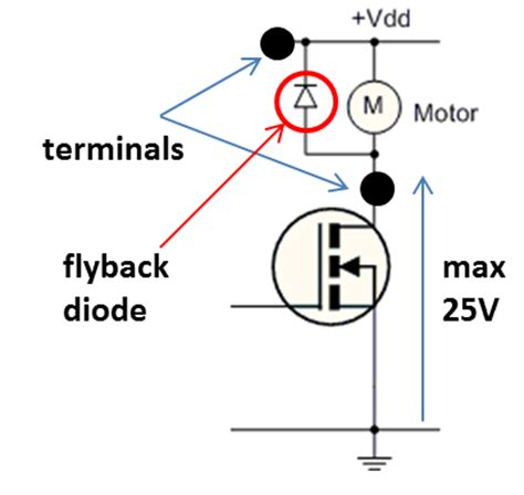 flyback diode operation relays vs mosfets for switching inductive loads esp8266