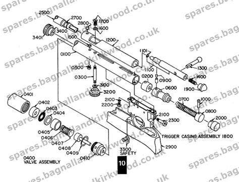 air rifle parts diagram smk 78 models qb78 xs78 th78d etc bagnall and