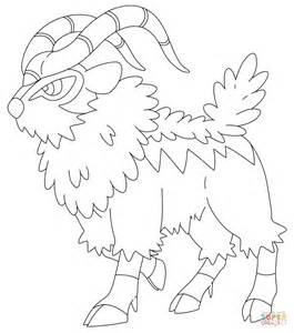 pokemon coloring pages nidoking gogoat coloring page free printable coloring pages