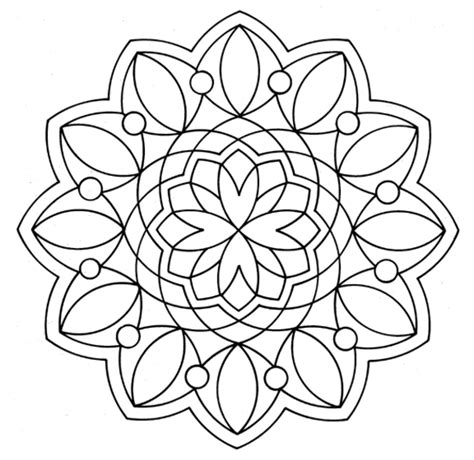 stress relief coloring pages easy geometric coloring page