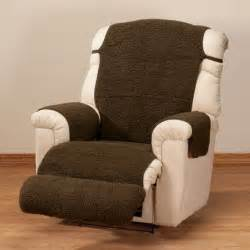Leather Armchair Covers Sherpa Recliner Cover By Oakridge Comforts