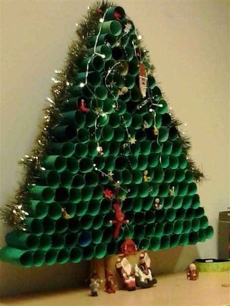 toilet paper roll christmas tree recyclart