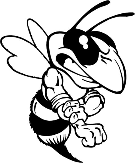 mascot decals yellow jacket mascot decals hornet