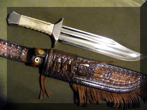 Handmade Bowie Knives Uk - paul fenech handmade custom knives