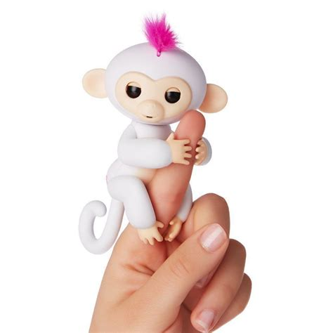 Fingerlings Baby Monkey new authentic white fingerlings interactive baby