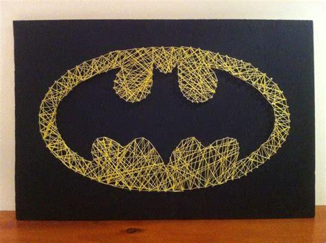 Batman String Pattern - batman symbol string superheroes diy