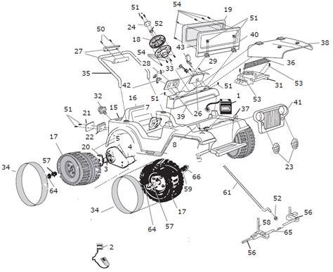 Jeep Wrangler Parts Diagram Power Wheels Jeep Lil Wrangler Parts