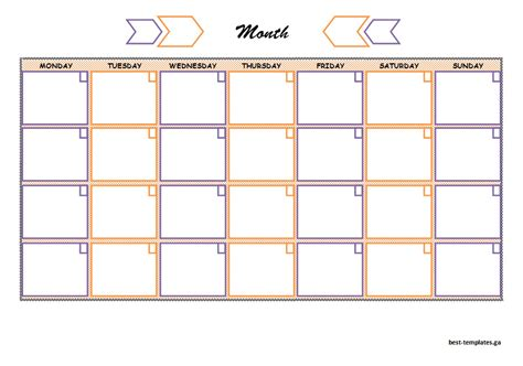 colorful monthly study schedule template free word