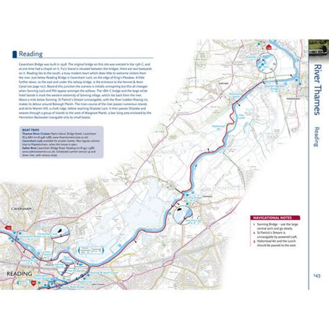 thames river navigation map nicholson river thames the southern waterways guide