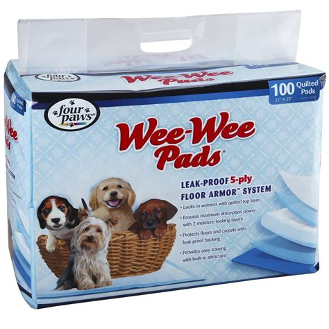 how to wee wee pad a four paws wee wee pads 100 pads