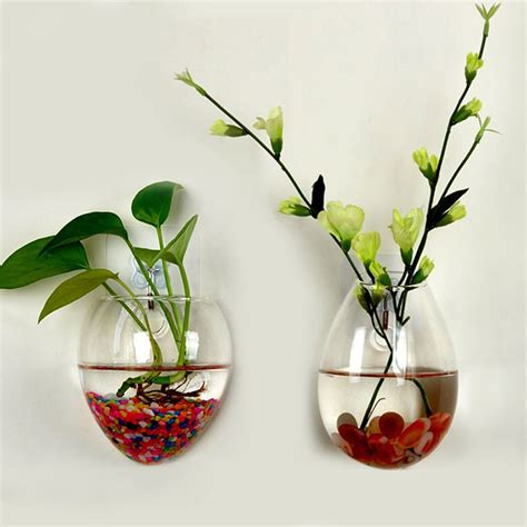 Plants In Water Vase by Wall Glass Terrarium Water Plants Clear Indoor Hanging