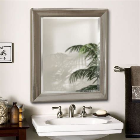 costco mirrors bathroom brushed nickel mirror products and brushed nickel on