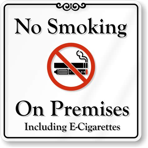 no smoking sign e cigarettes no e cigarette signs electronic cigarettes prohibited sign