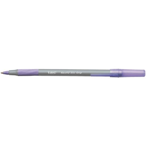 bic  stic grip ballpoint  purple pack
