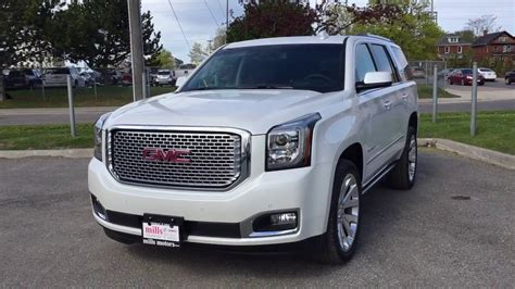 gmc yukon white 2017 2017 gmc yukon denali 4wd heads up display dvd screen