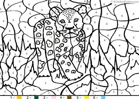 color by number animal coloring pages free coloring pages of leopard cub