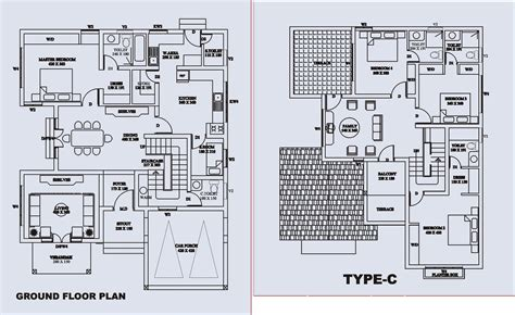 bungalow floor plan with elevation indian bungalow plans images