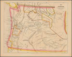 oregon indian tribes map map of oregon showing the location of indian tribes 1852