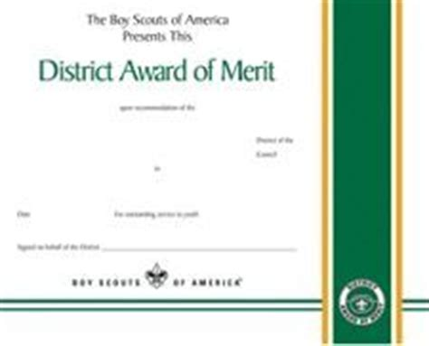District Award Of Merit Certificate Template by District Award Of Merit Certificate Scouting