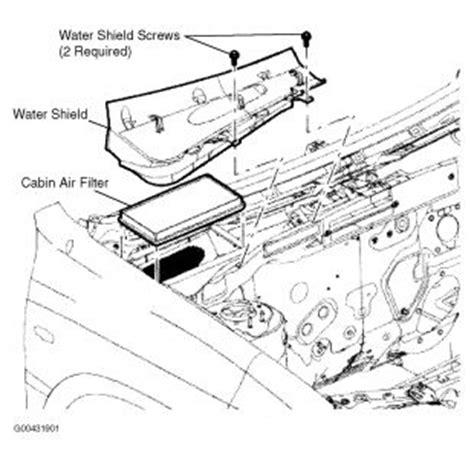2005 ford escape cabin air filter interior problem 2005