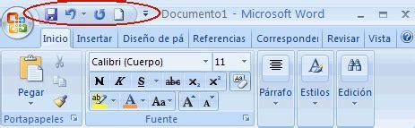barra de herramientas parte superior todas las ventanas de word todas las ventanas de word