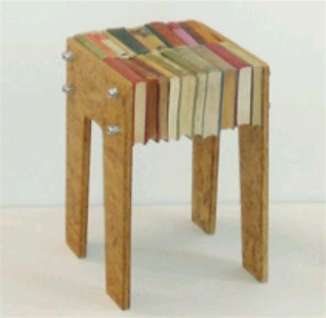 Book Stool by Recycled Books Furniture Book Recycling
