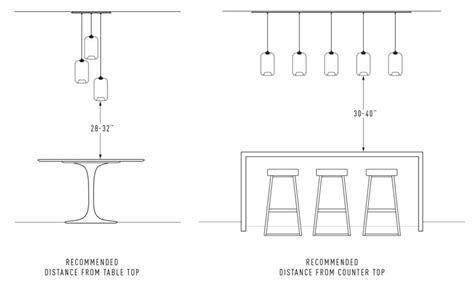Standard Height For Pendant Lights Calculate The Height Of Your Pod Modern Pendant Light Above A Surface