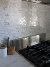 hexagon tile backsplash houzz hexagon tile in the kitchen vintage revivals