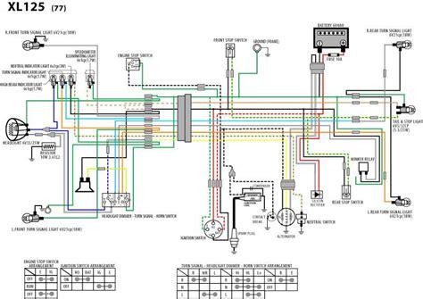 1974 honda xl100 wiring diagram 1974 honda xl350 wiring