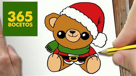 imagenes de osos kawai como dibujar un oso para navidad paso a paso dibujos