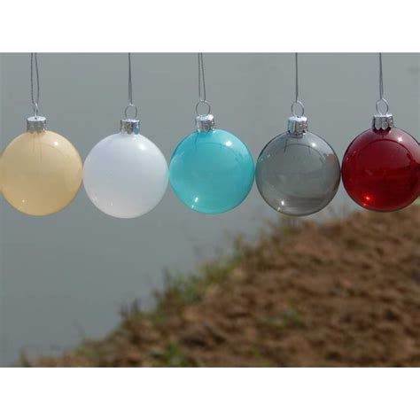 6pcs lot christmas glass ball clear baubles ornaments