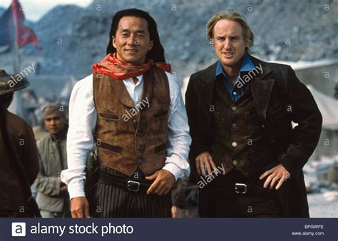 owen wilson and jackie chan jackie chan owen wilson shanghai noon 2000 stock photo