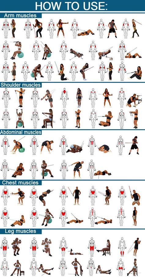 printable exercise band workouts resistance band workouts 187 health and fitness training