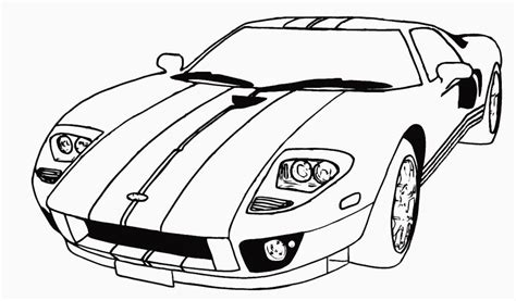 Galerry coloring page for car