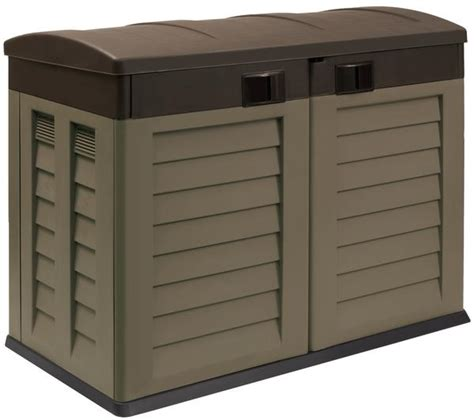 home design products keter plastic garden shed wheelie bin storage store for home