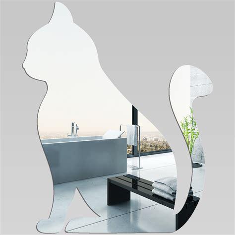Aufkleber Lösen Von Glas by Wandtattoos Folies Wandspiegel Aus Acrylglas Katze