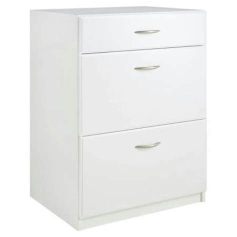 closetmaid dimensions freestanding 3 drawer base cabinet