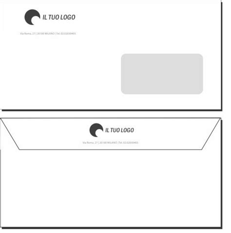 intestazione buste lettere buste da lettera 11x22 con finestra modello 1