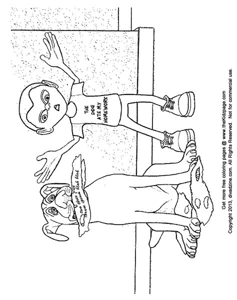 Homework Coloring Sheets by The Ate My Homework Free Coloring Pages For