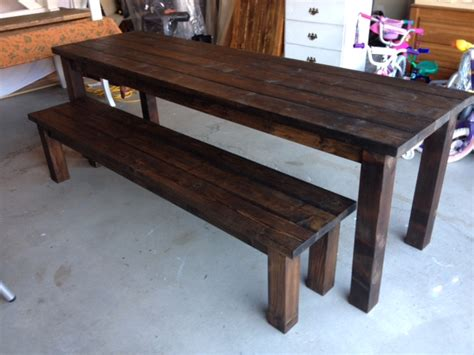 farmhouse table with bench benches dining tables robthebenchguy