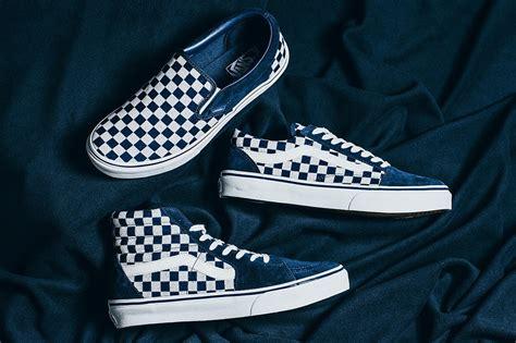 Vans Slip On Checkerboard Gum Limited Stock Premium vans japan indigo checkerboard pack sugar cayne