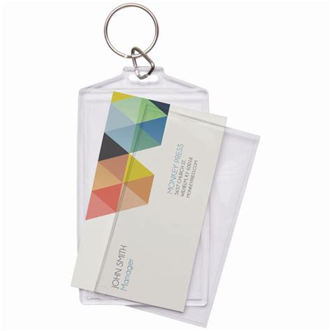 keychain card template business card keychain business card keychain holder