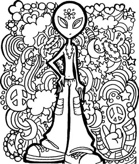 hippie coloring pages 41 best hippie coloring pages images on
